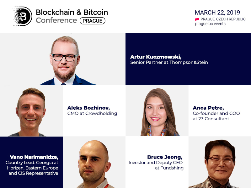 Top 5 speakers of Blockchain & Bitcoin Conference Prague