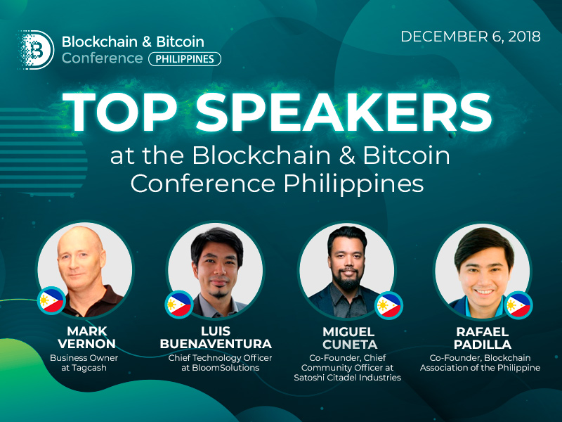 Top Speakers at the Blockchain & Bitcoin Conference Philippines