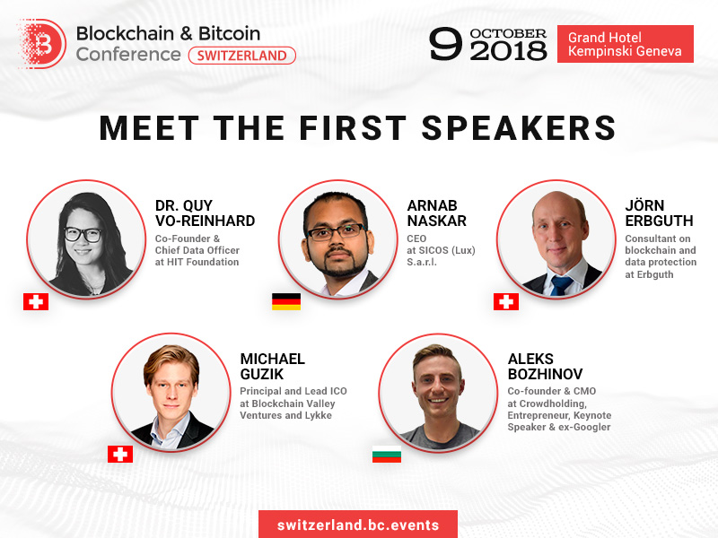 Top Speakers at the Blockchain & Bitcoin Conference Switzerland
