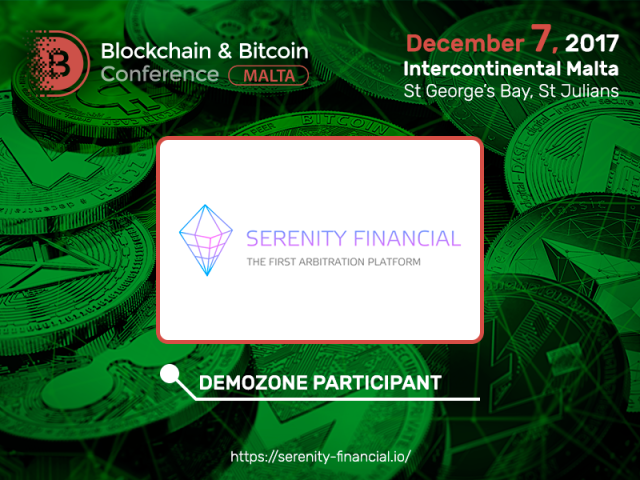 Trading blockchain platform Serenity Financial will present a booth at Blockchain & Bitcoin Conference Malta