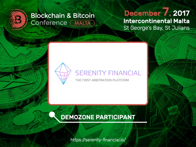 Trading blockchain platform Serenity Financial will present a booth at Blockchain & Bitcoin Conference Malta