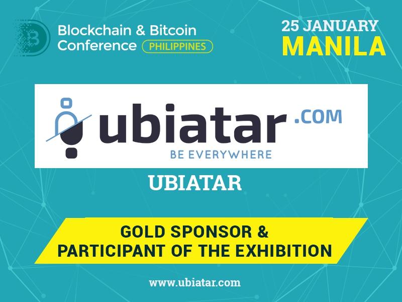 Ubiatar – Gold Sponsor of Blockchain & Bitcoin Conference Philippines
