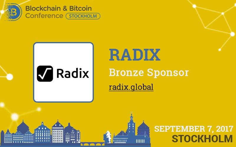 Ultra-fast platform Radix is conference bronze sponsor