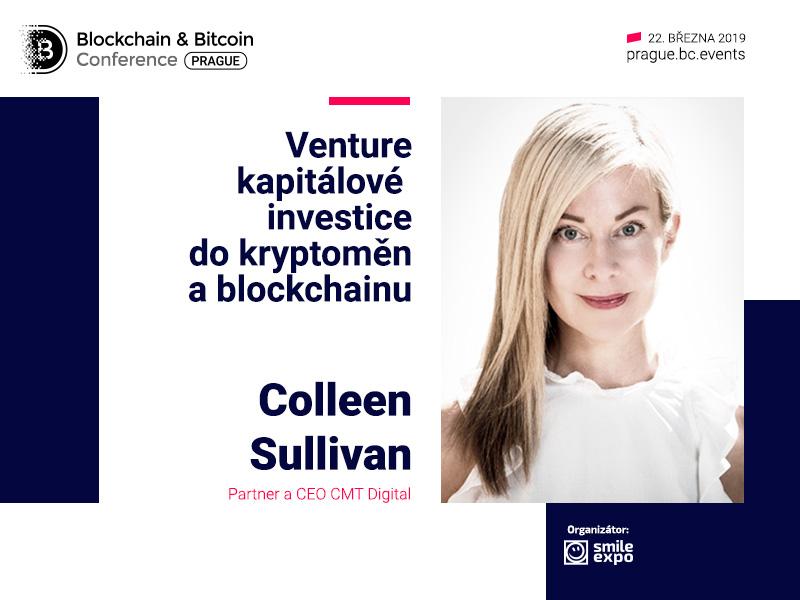 Výkonná ředitelka CMT Digital Colleen Sullivan vystoupí s přednáškou o venture kapitálových investicích do kryptoměn a blockchainu