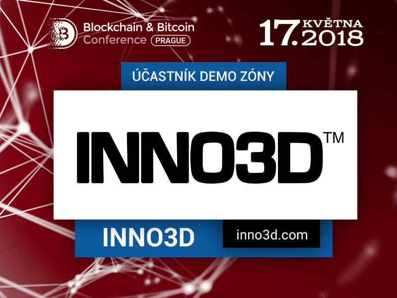 Výrobce těžebních karet Inno3D představí své výrobky na Blockchain & Bitcoin Conference Prague