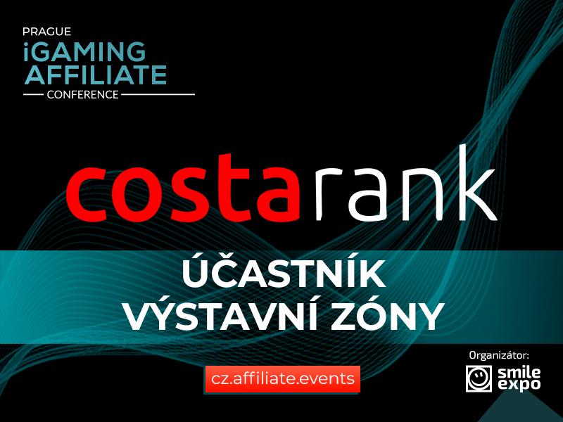 Vývojář webových řešení Costa Rank se zúčastní výstavní zóny Prague iGaming Affiliate Conference
