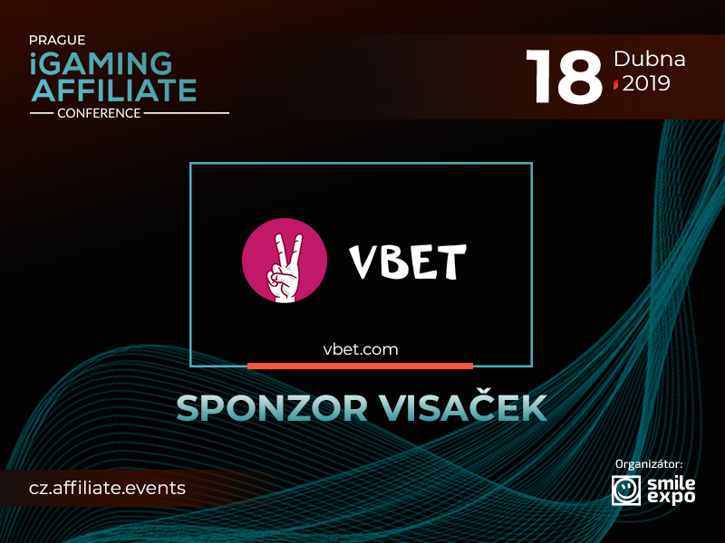 VBET je sponzor visaček Prague iGaming Affiliate Conference