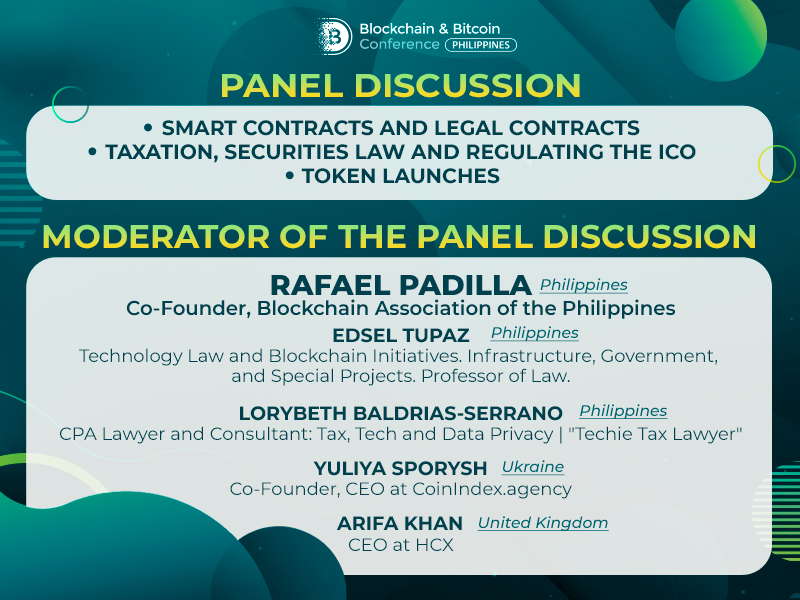 What does the future hold for blockchain's legal aspects? Discussion of crypto experts at Blockchain & Bitcoin Conference Philippines