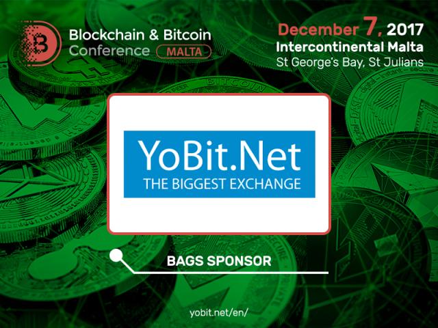 Yobit.net: Bag Sponsor of Blockchain & Bitcoin Conference Malta